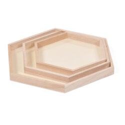 Set of Hexagonal Display Trays