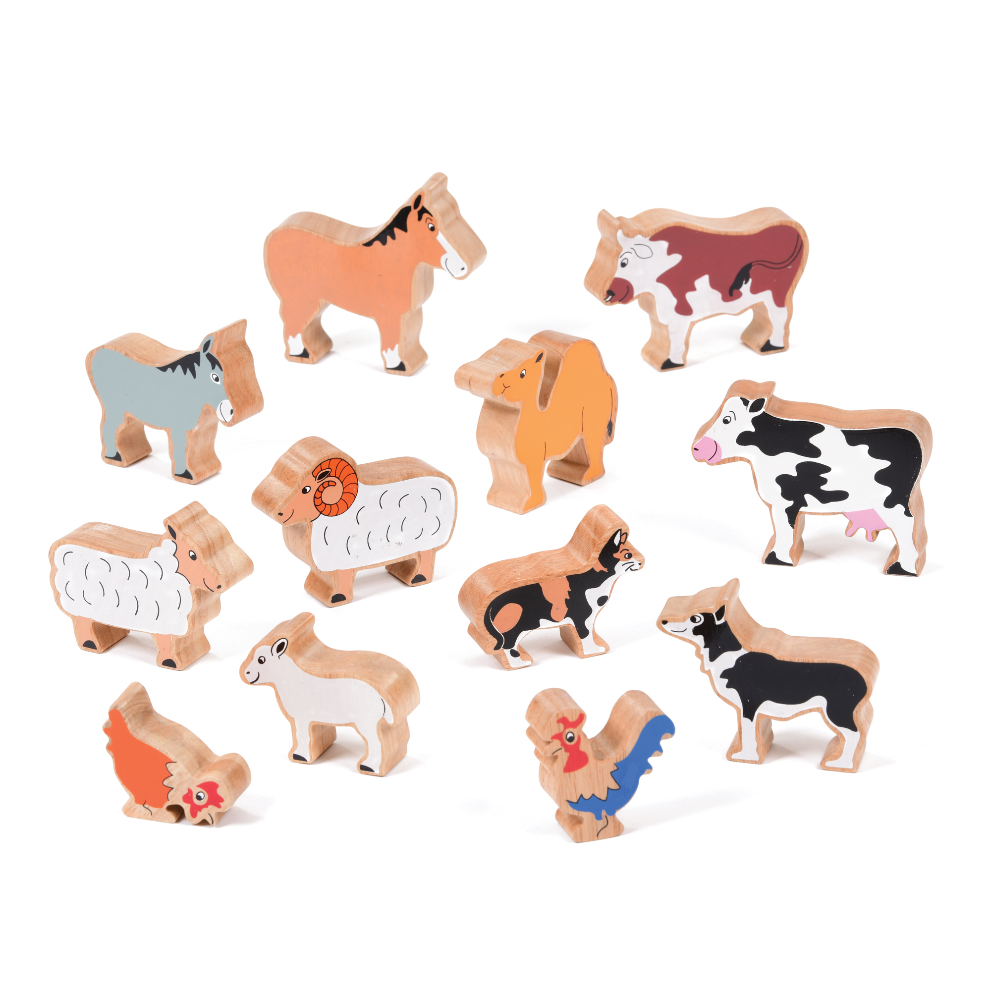 Set of Wooden Nativity Animals