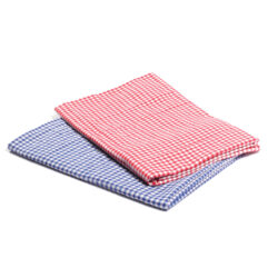 Set of Gingham Drapes