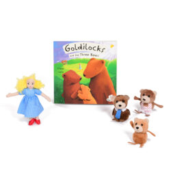 Goldilocks & The Three Bears Book & Puppet Set