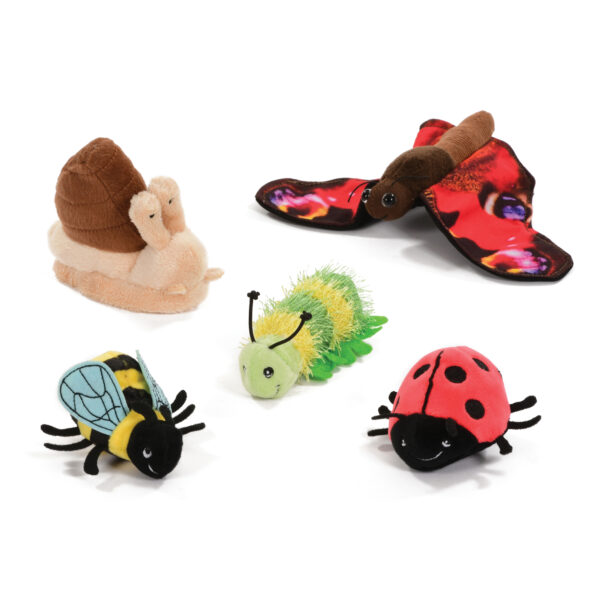 Set of Spring Creatures Finger Puppets