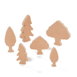 Set of Craft Wooden Trees