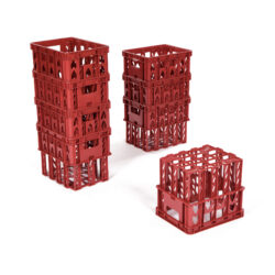 Set of Red Play Crates