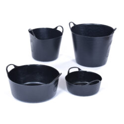 Set of Assorted Black Trugs